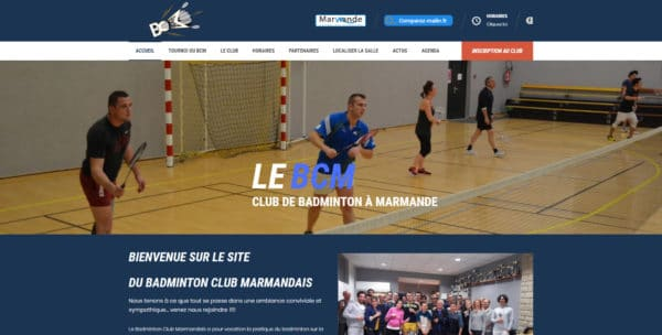 Site Web de Club de Badminton de Marmande