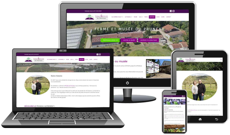 Site internet Ferme et Musée du pruneau